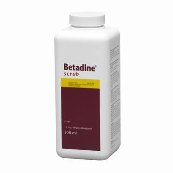 Betadine scrub 500ml per stuk
