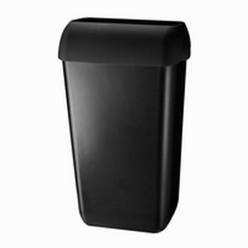 Afvalbak kunstof mat zwart 43 liter