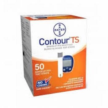 Bayer Contour TS teststrips , verpakt per 50 stuks