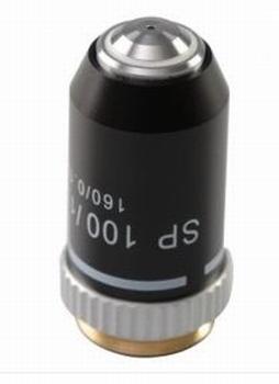 Objectief DIN achromatisch Semi Plan 100x (olie-immersie)