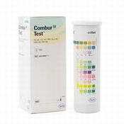 Combur 10 Test, Roche, flacon 100 teststrookjes