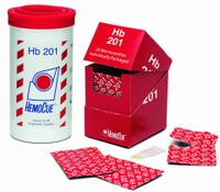 Hemocue HB 201 cuvetten in potje, verpakking 50 stuks