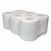 Midi papierrol 2 laags, naturelwit, verpakt per 6 rollen