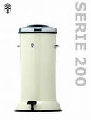 Pedaalemmer 20 Ltr, metaal, ivoorwit, Erpa