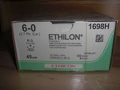 Hechtmateriaal Ethicon Ethilon 6/0 met naald P3 - 45cm