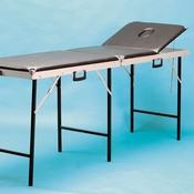 Onderzoekbank koffermodel zwart 3 delig, neusuitsparing
