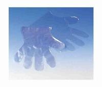 Handschoenen PE wegwerp geruwd per 100 stuks