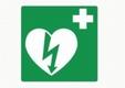 AED pictogram, 20 x 20cm, sticker