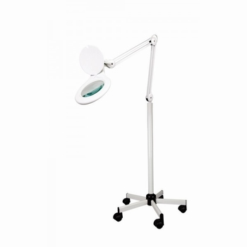 Loupe Lamp Vera op verzwaard rijdbaar statief, LED