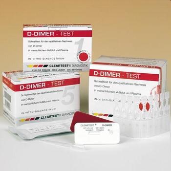 Clearview D-Dimer verpakking van 10 testen