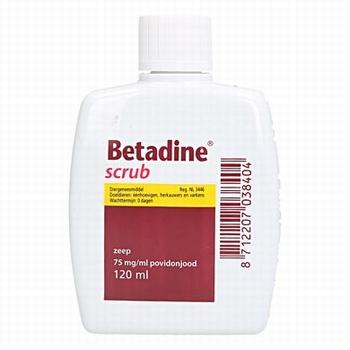 Betadine scrub 120ml per stuk