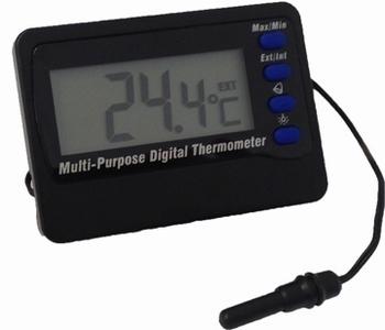 Digitale thermometer met alarm en externe sensor