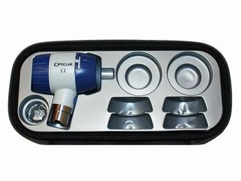 DScope opzetstuk met contactglas met XY verdeling in etui
