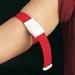 Stuwband met kunststofsluiting rood