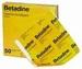 Betadine desinfectie zalfgaas, 10x10 cm, per 10 stuks