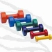 Halter met zachte PVC coating, per paar (dumbell) - 0,5kg