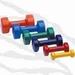 Halter met zachte PVC coating, per paar (dumbell) - 2kg