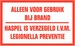 Sticker Legionella preventie brandhaspel per stuk